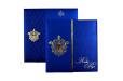 Designer Wedding Card RB 1208 BLUE Top View