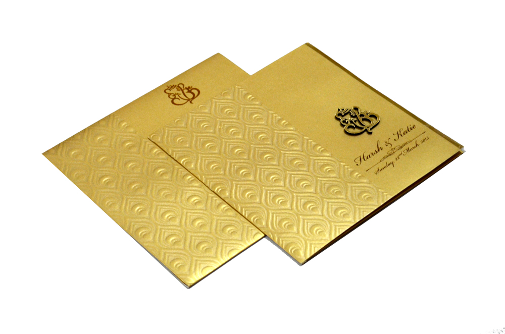 Hindu Wedding Card RB 1225 GOLD