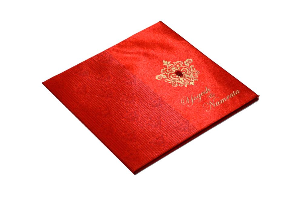 Designer Wedding Card RB 1231 RED Card