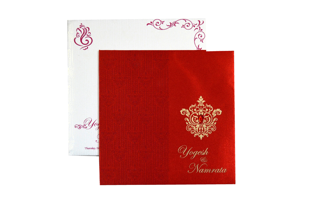 Designer Wedding Card RB 1231 RED Top View