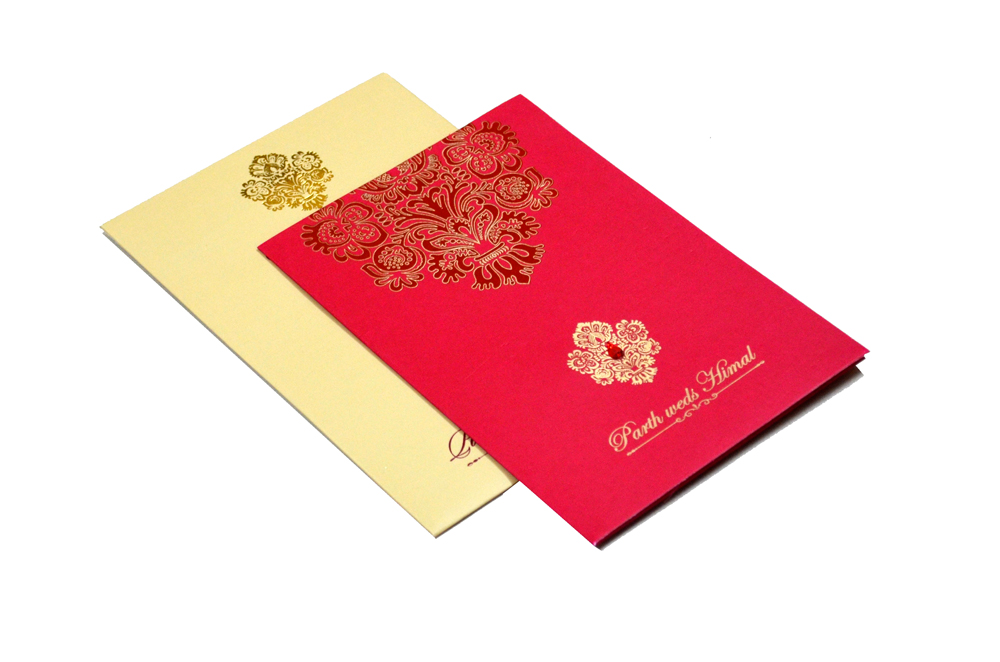 Designer Wedding Card RB 1240 RED