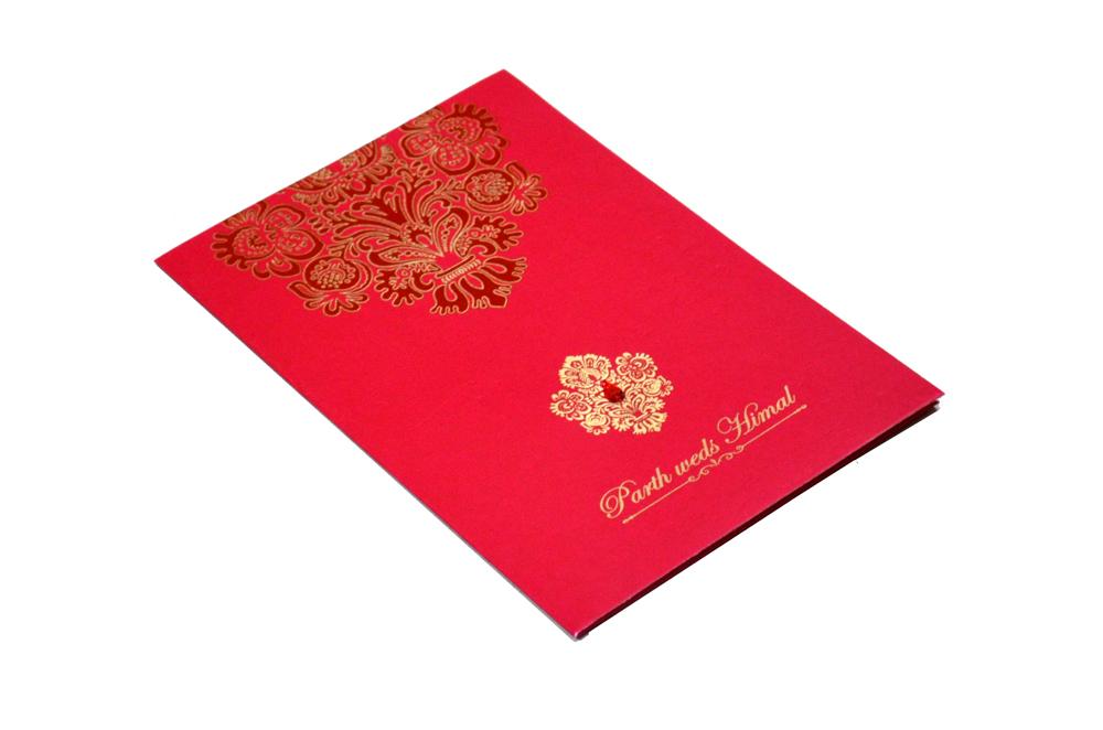 Designer Wedding Card RB 1240 RED Card