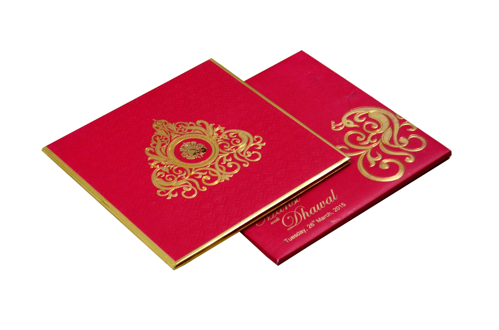 Hindu Wedding Card RB 1241 RED