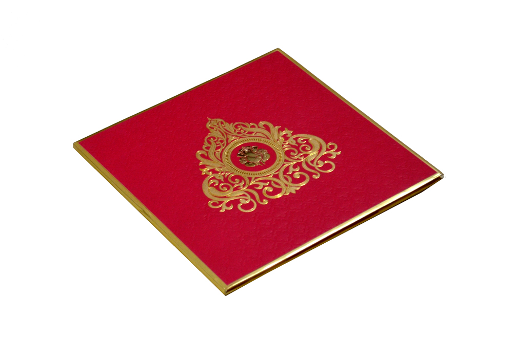 Hindu Wedding Card RB 1241 RED Card