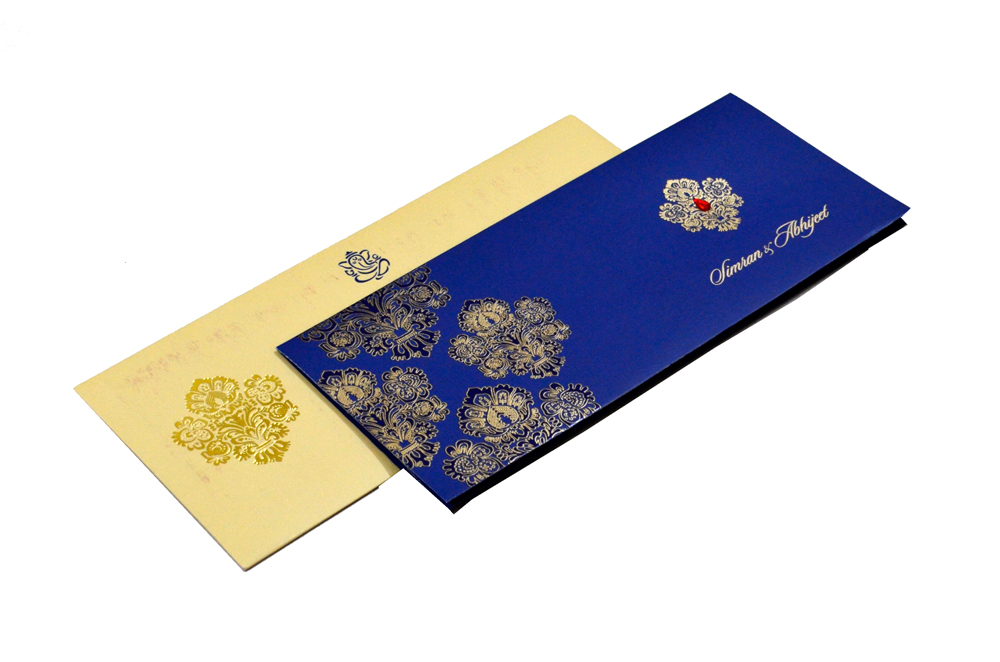 Designer Wedding Card RB 1245 BLUE