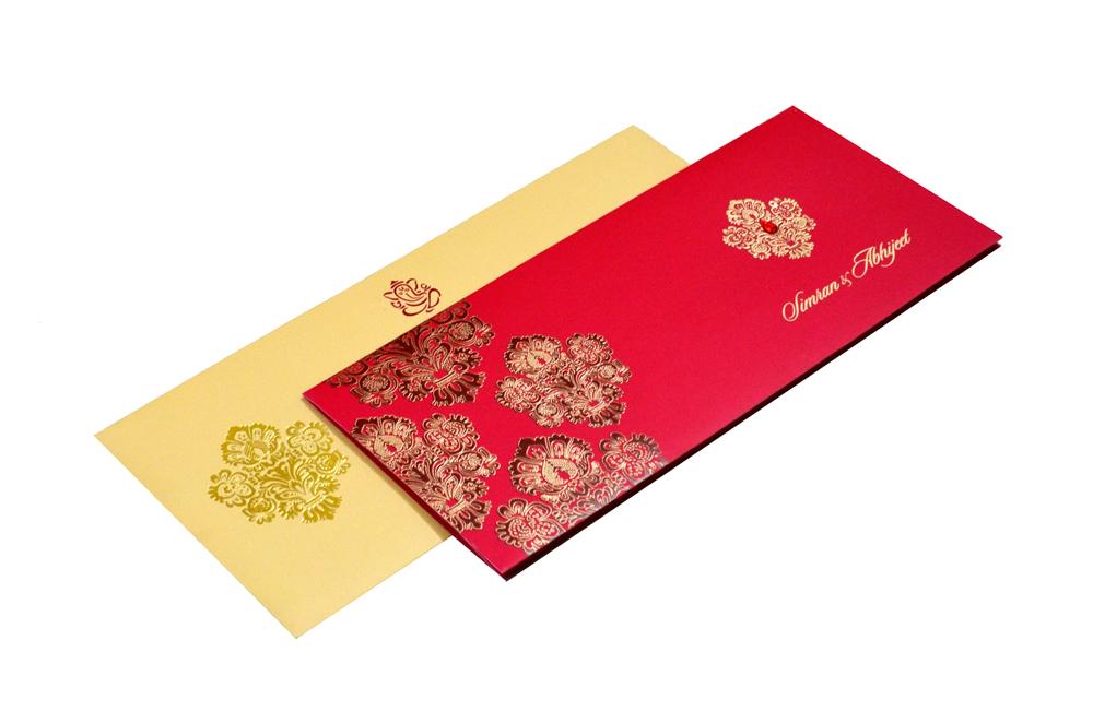 Designer Wedding Card RB 1245 RED