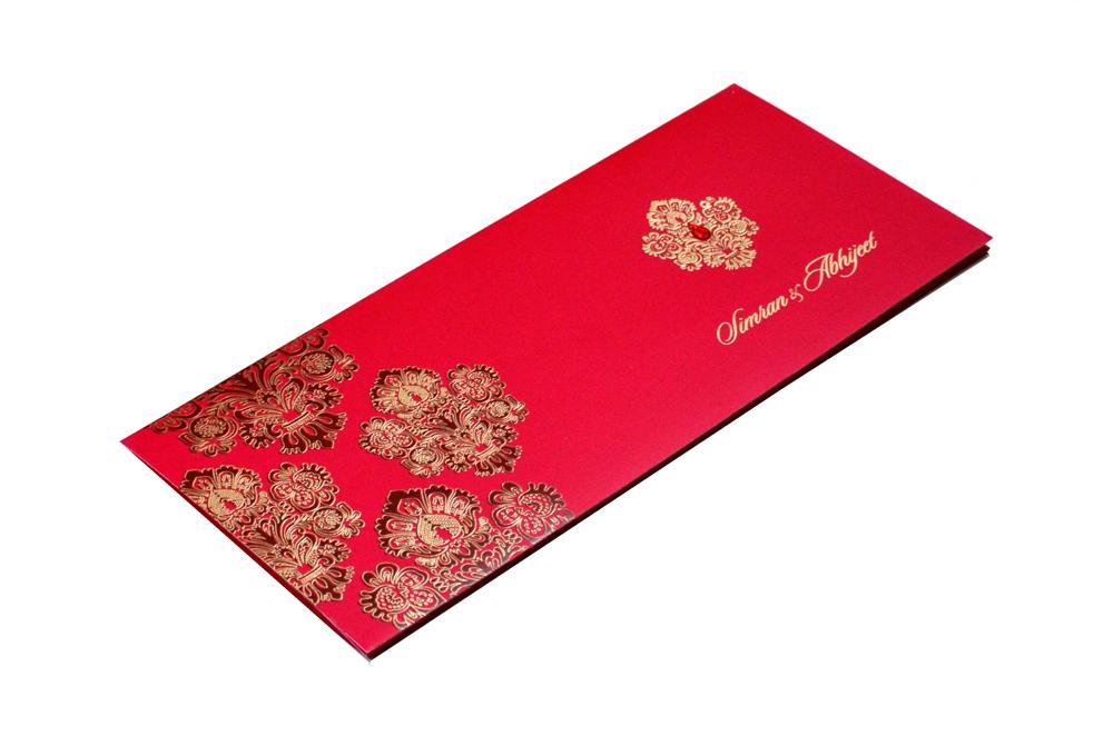 Designer Wedding Card RB 1245 RED Card