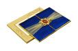 Designer Satin Cloth Wedding Card RB 1254 BLUE