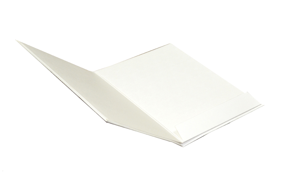White Padded Wedding Card AC 417 Inside View