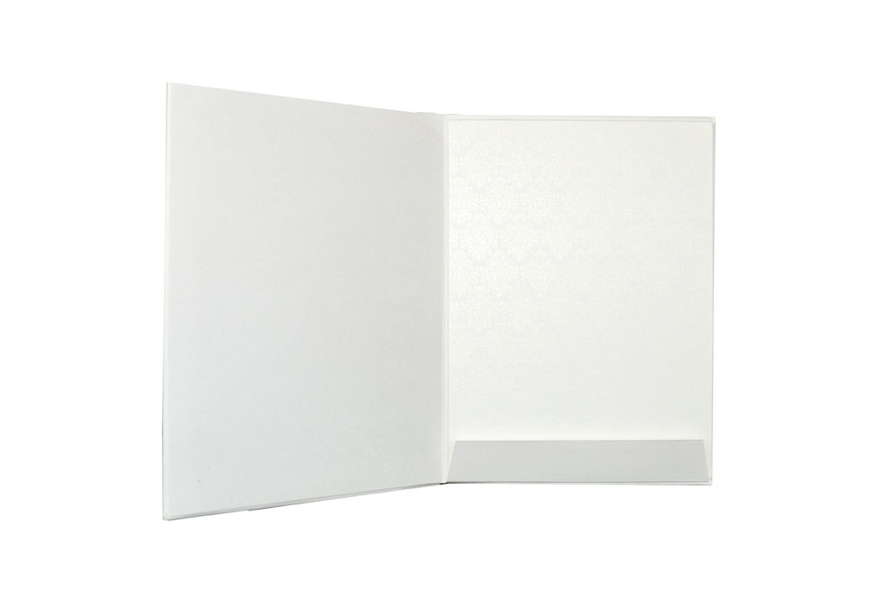 White Padded Wedding Card AC 417 Top Inside View