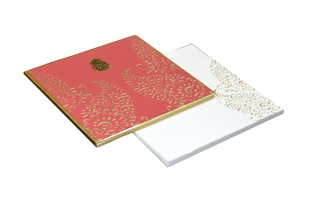 Red Hindu Wedding Card AC 463