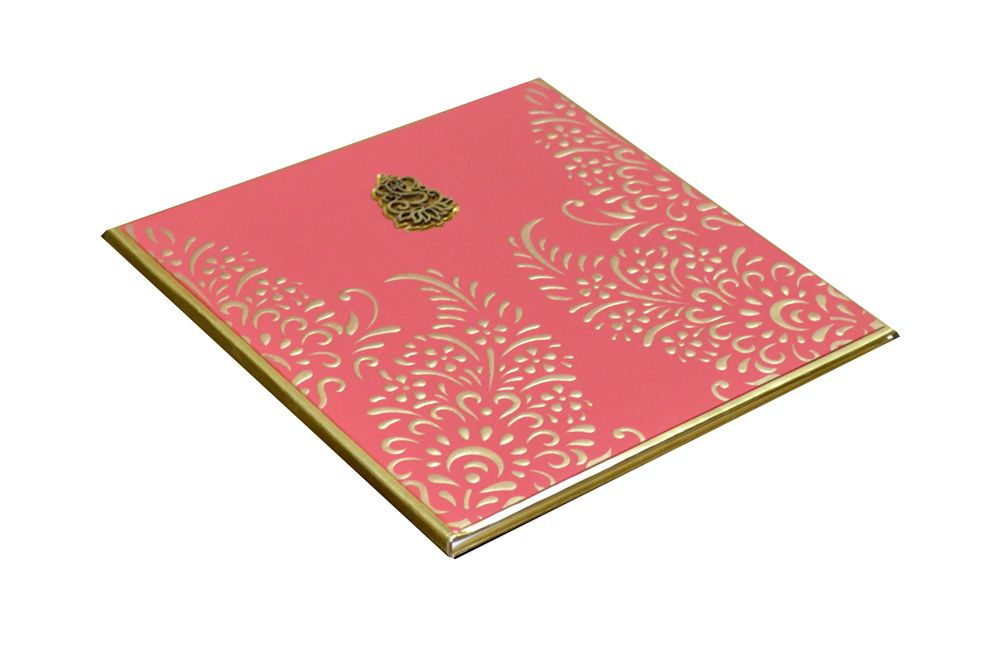 Red Hindu Wedding Card AC 463 Card