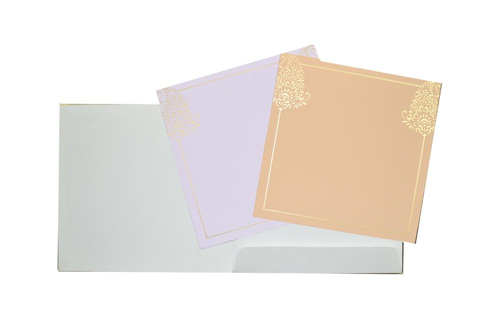 Red Hindu Wedding Card AC 463 Top Inside View