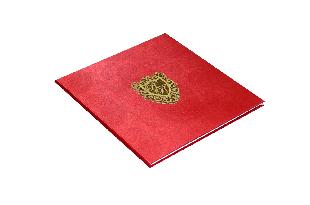 Red Satin Cloth Wedding Card AC 464 Card