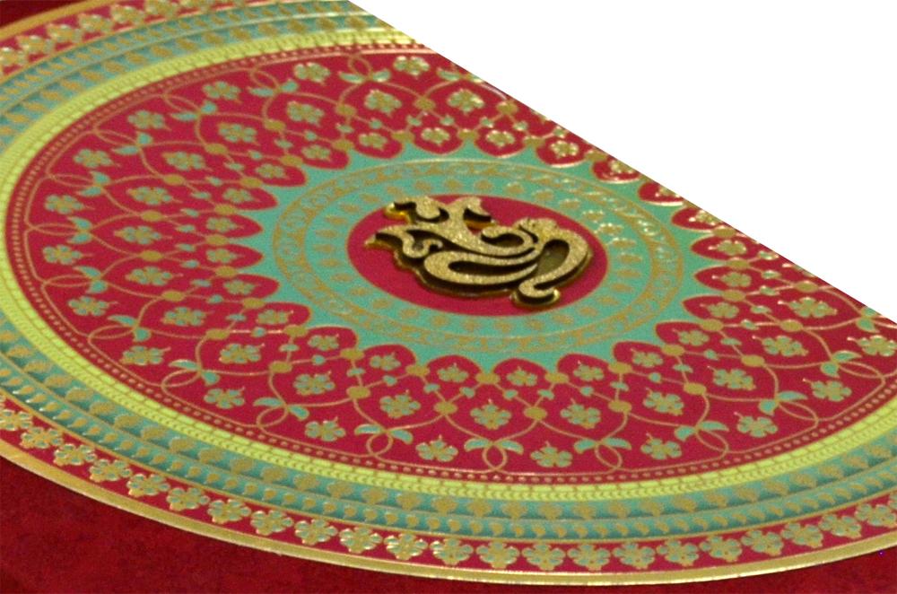 Designer Wedding Card AC 509 Card Zoom View