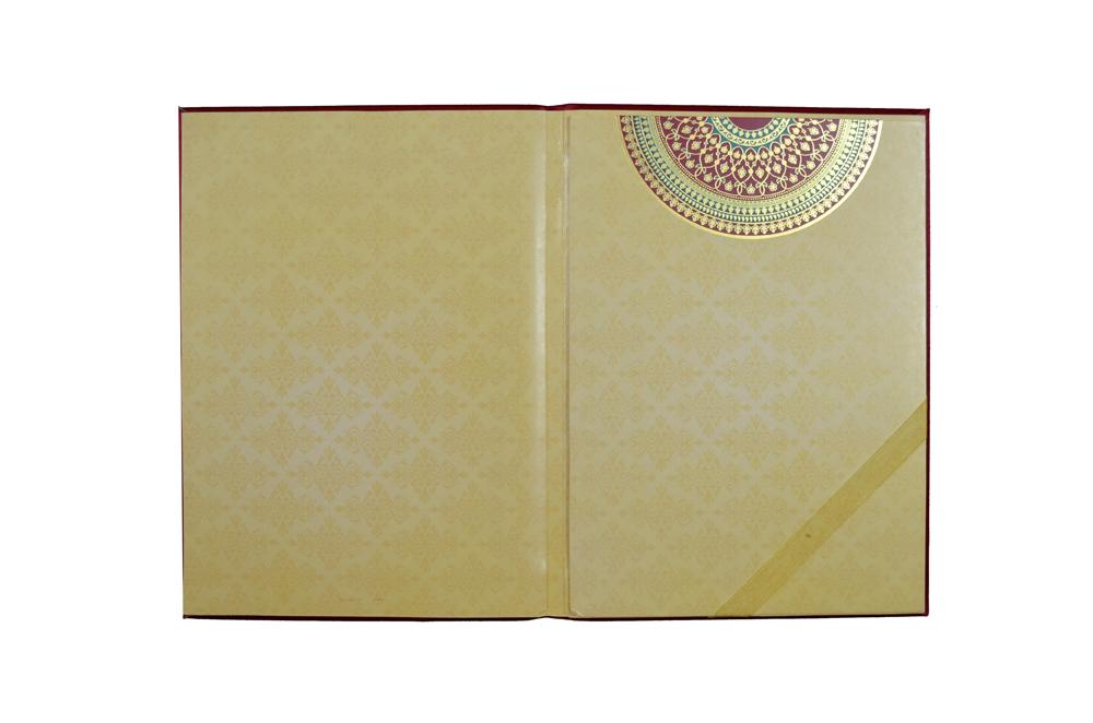 Designer Wedding Card AC 509 Card Top Inside View