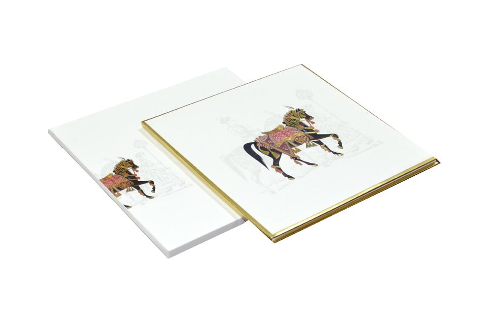 Horse Theme Padded Wedding Card AC 510