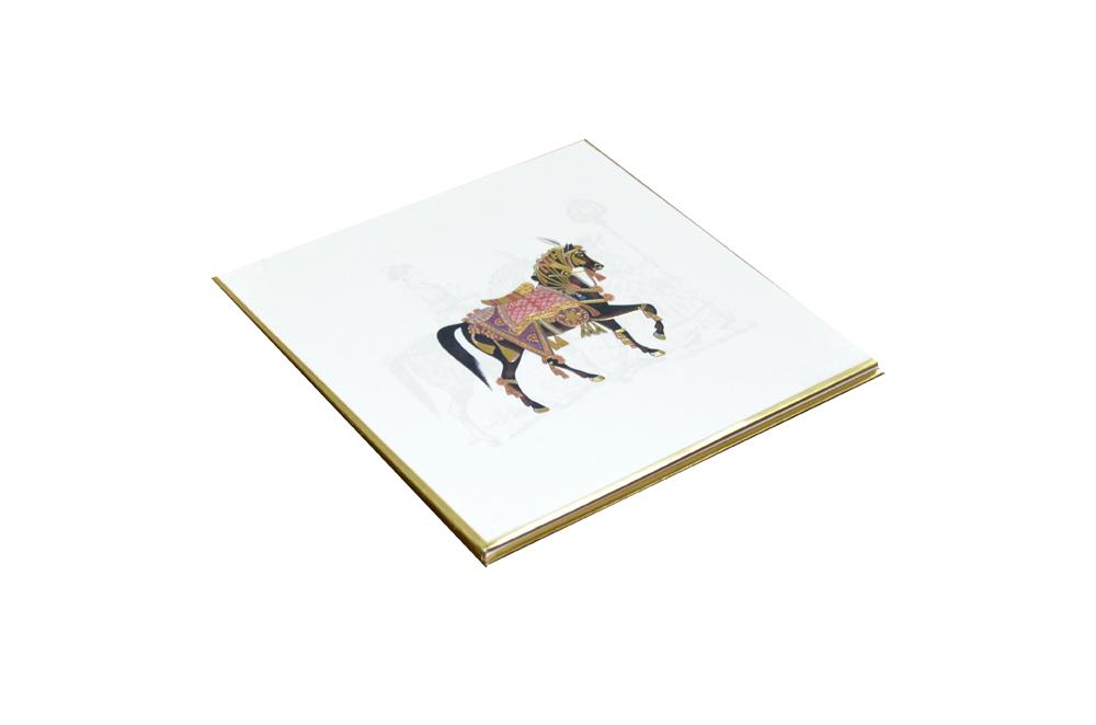 Horse Theme Padded Wedding Card AC 510 Card