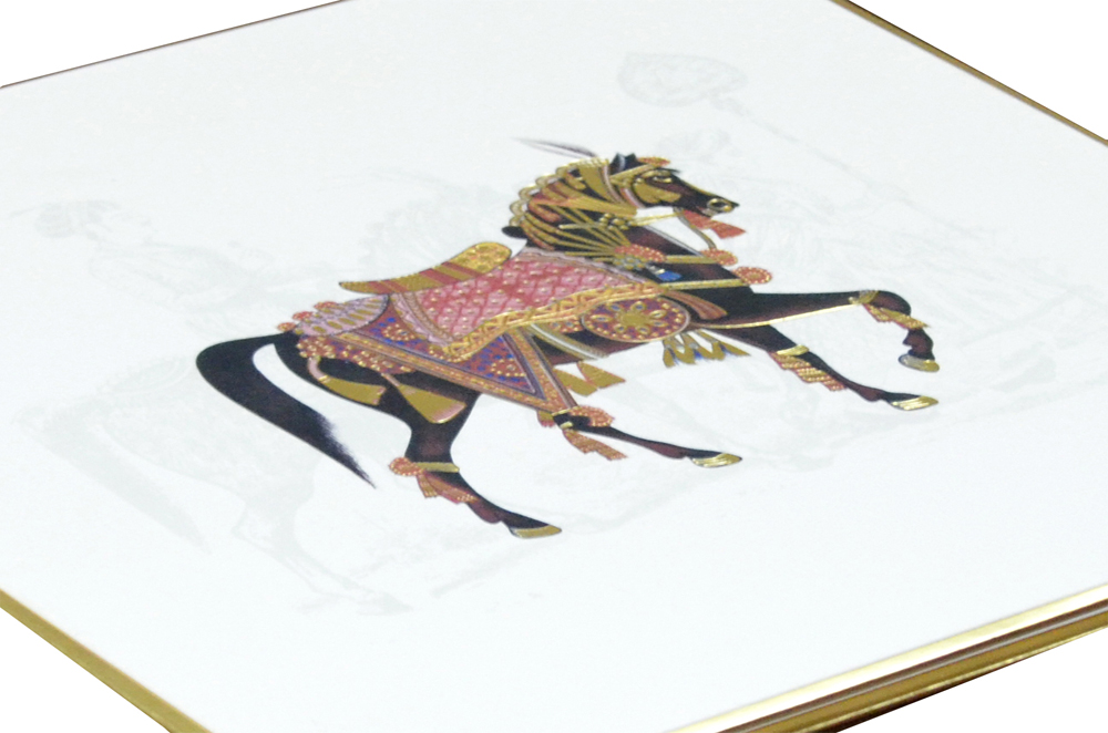 Horse Theme Padded Wedding Card AC 510 Zoom View