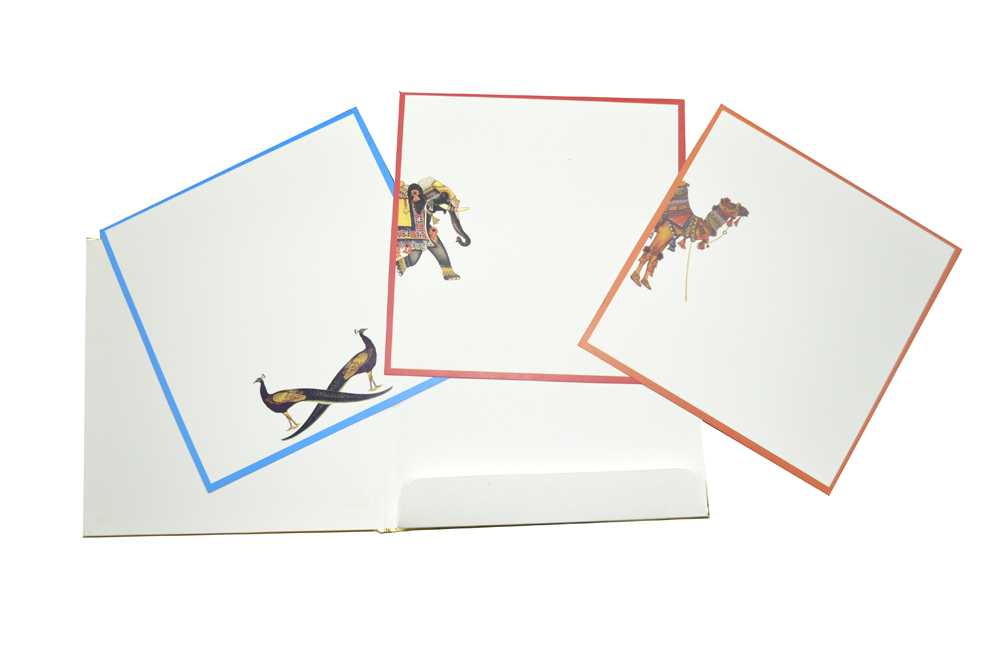 Horse Theme Padded Wedding Card AC 510 Top Inside View