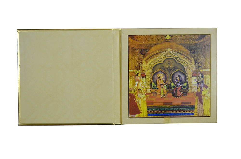 Padded Wedding Card AC 512 Top Inside View
