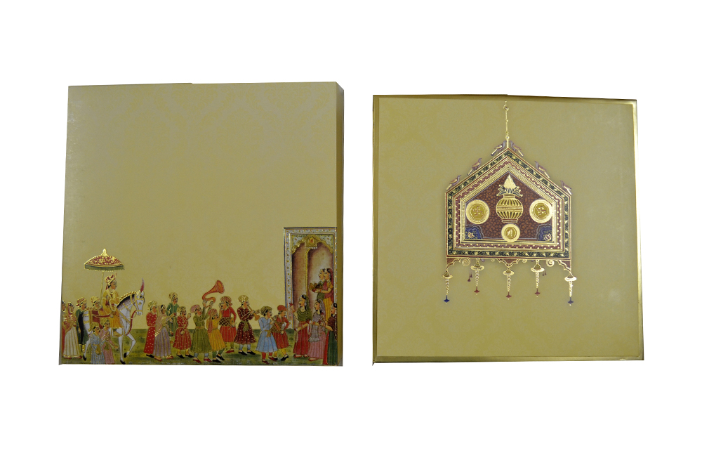 Boxed Wedding Card AC 515 Top View
