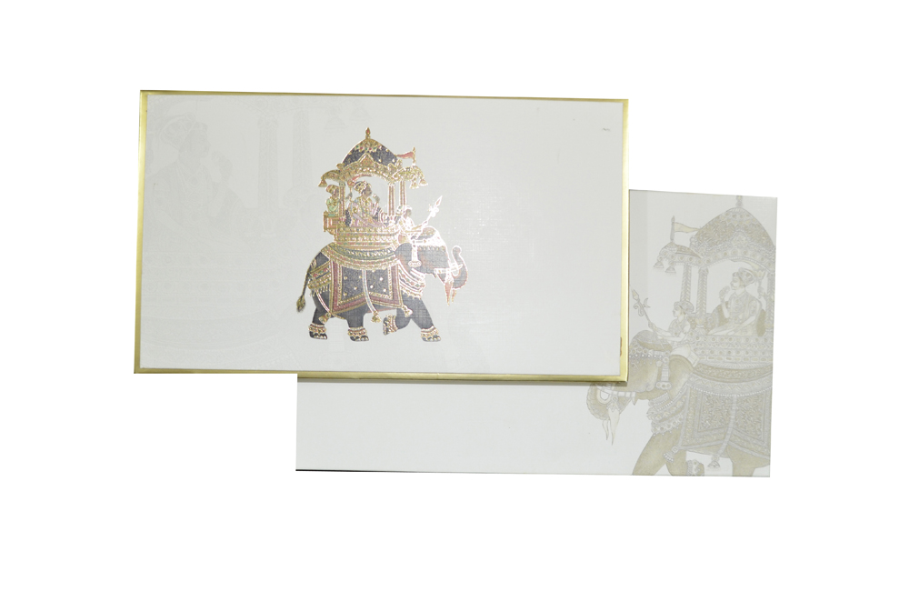 Padded Wedding Card AC 528 Top View