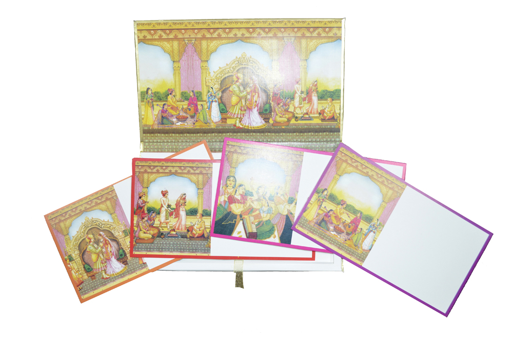 Padded Wedding Card AC 528 Top Inside View