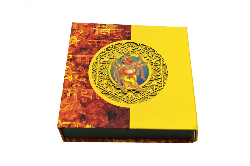 Hindu Laser Cut Wedding Card Box Design PDB 001 a