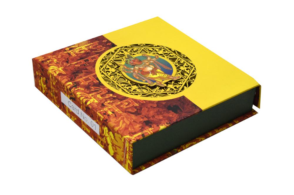 Hindu Laser Cut Wedding Card Box Design PDB 001 b