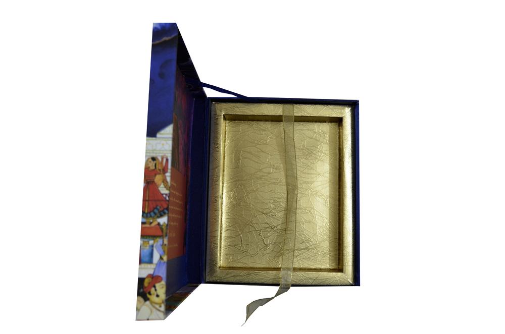 Baarat Theme Wedding Card Box Design PDB 007 Inside View 3