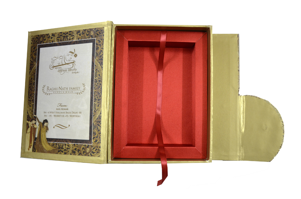 Tree Shaped Laser Wedding Card Box Design PDB 022 Inside View 2