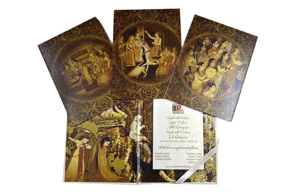 Tree Shaped Laser Wedding Card Box Design PDB 022 Card Inside View 2