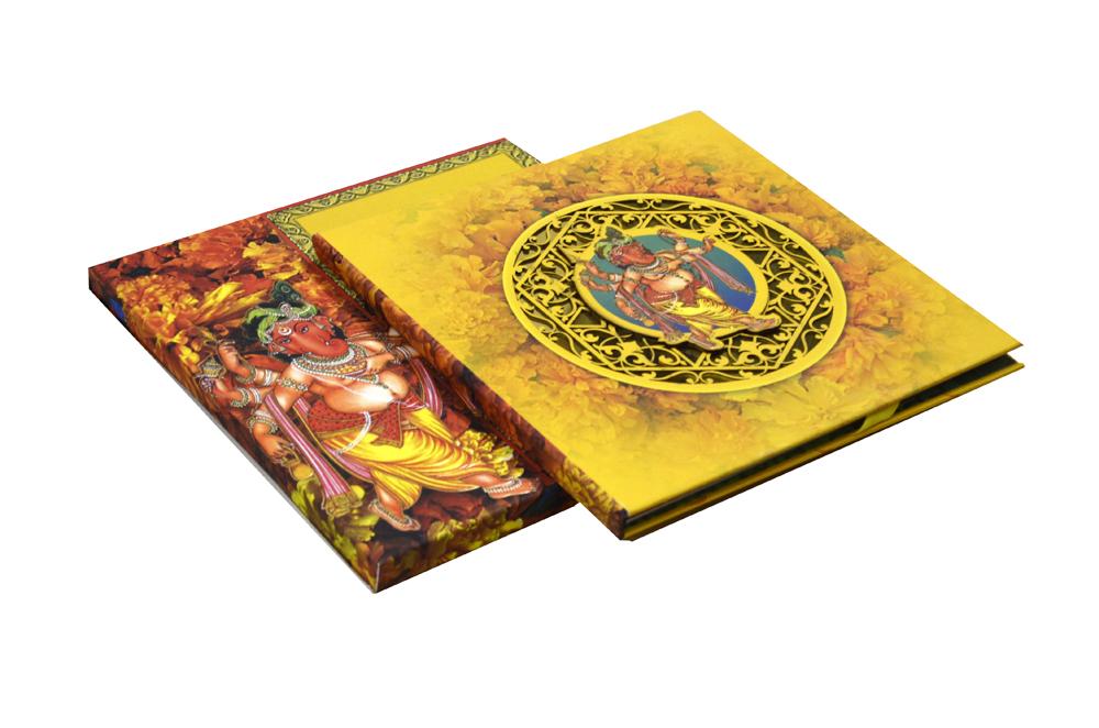 Exclusive Ganesh Theme Laser Cut Wedding Card Design PDE 001
