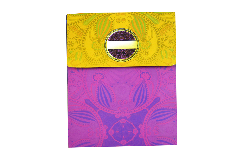 Baraat Theme Exclusive Wedding Card Design PDE 007 Envelope Back