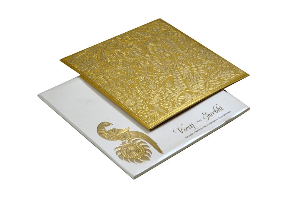 Golden Tree Theme Wedding Card Design PP 7990