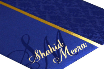 Blue Wedding Card Design PP 8131 Zoom View
