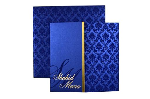 Blue Wedding Card Design PP 8131 Top View