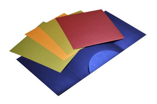 Blue Wedding Card Design PP 8131 Inside View