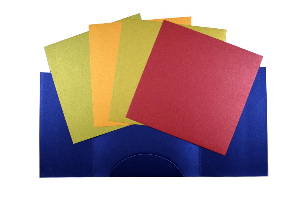 Blue Wedding Card Design PP 8131 Top Inside View