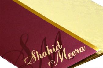 Red & Cream Wedding Card Design PP 8162 Zoom View