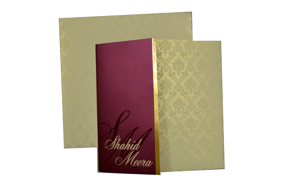 Red & Cream Wedding Card Design PP 8162 Top View