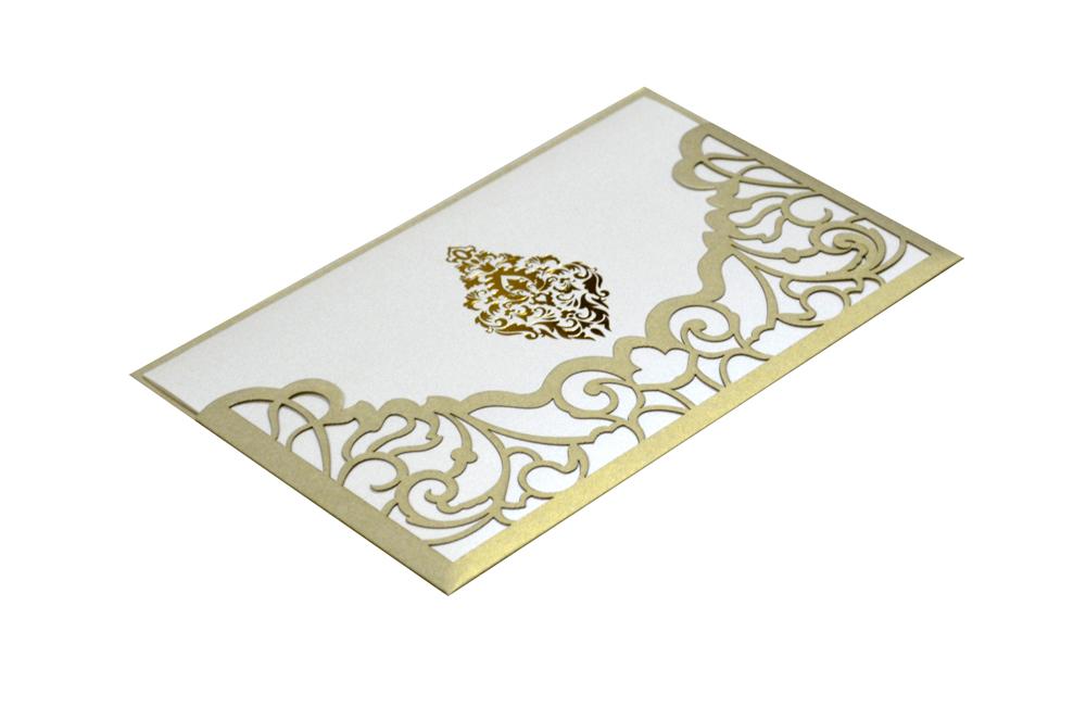 Grey Lasercut Wedding Card Design PP 8184 Card