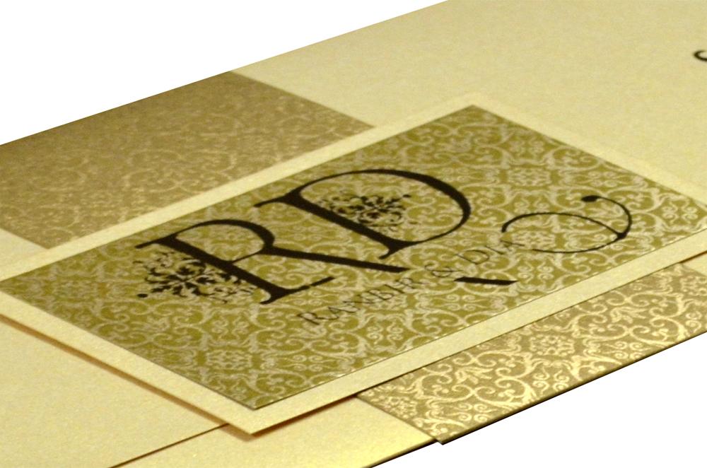 Cream Wedding Card Design PP 8201 b