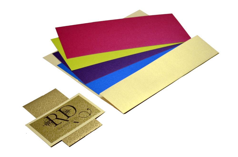 Cream Wedding Card Design PP 8201 e