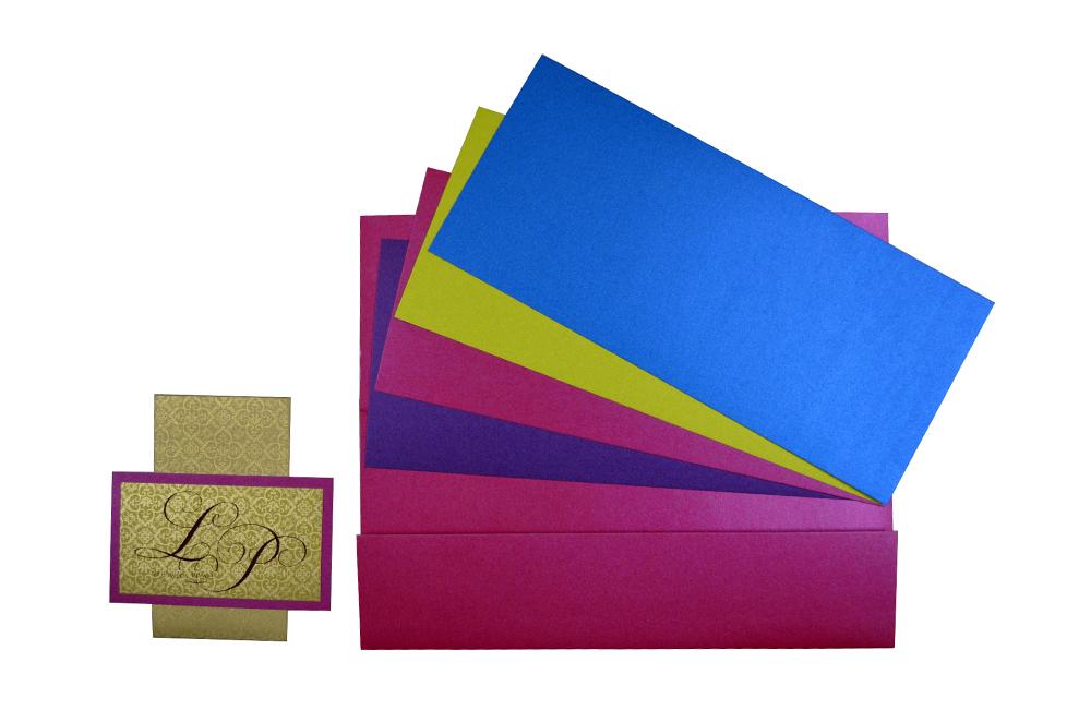 Pink Wedding Card Design PP 8202 f