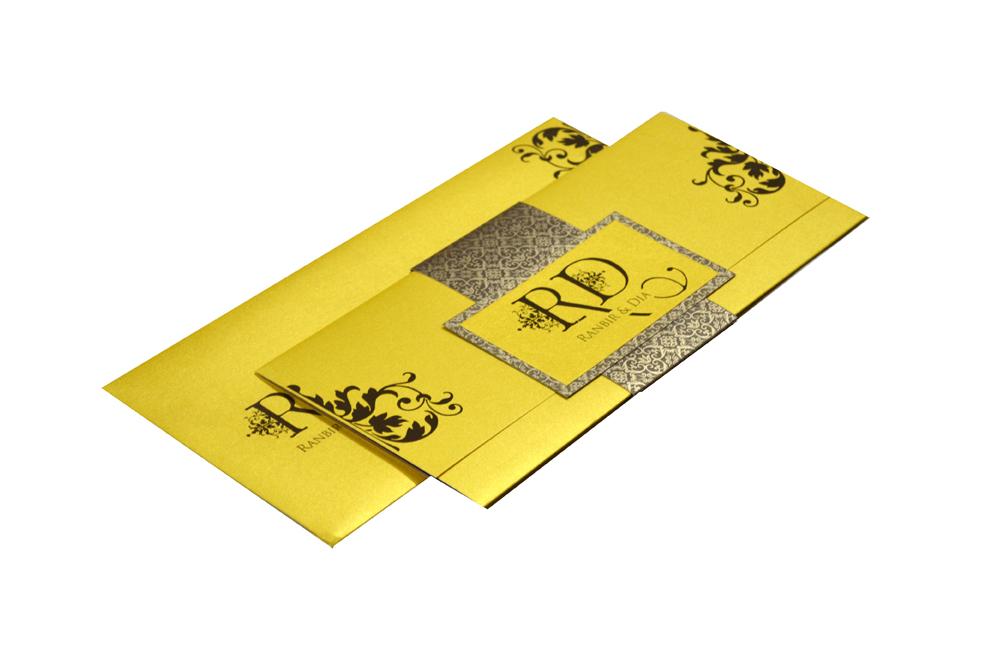 Yellow Wedding Card Design PP 8204