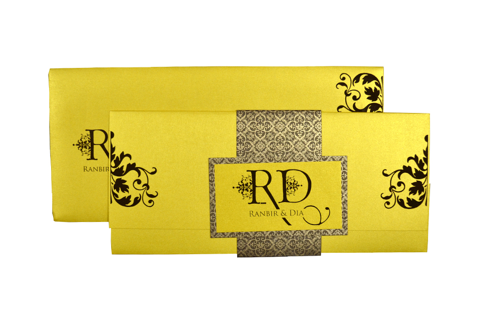 Yellow Wedding Card Design PP 8204 d