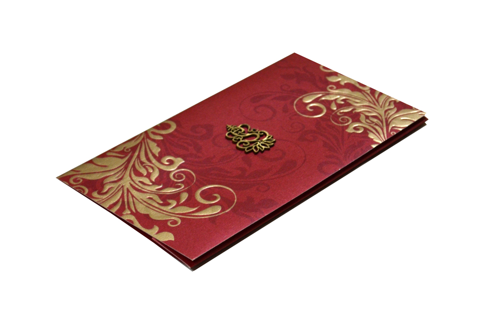 Red Hindu Wedding Card PP 8297 c