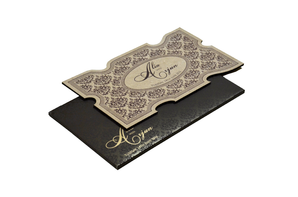 Wooden Laser Cut Invitation Design PP 8307